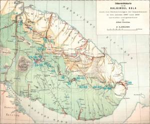 Маршруты финской экспедиции 1887 года